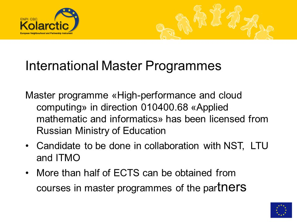 International Master Programmes Master programme «High-performance and cloud computing» in direction 010400.68 «Applied mathematic and informatics» ha