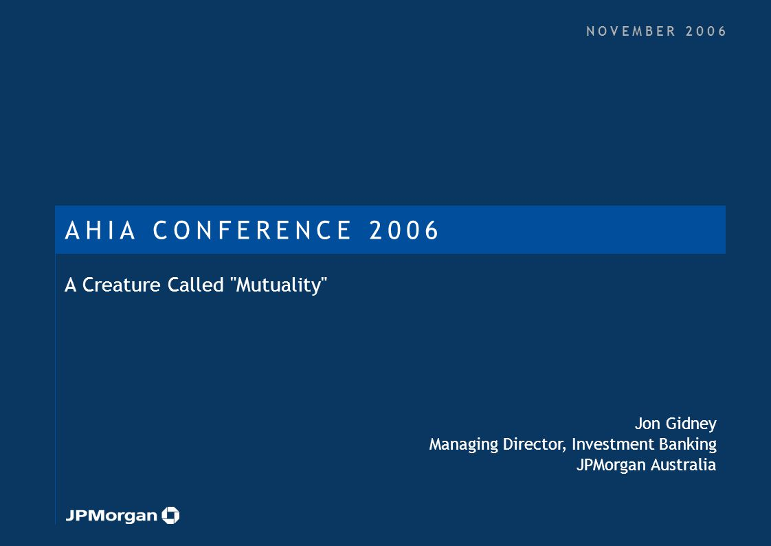 Agenda What is Mutuality History and Current Use Arguments For and Against Relevant Experience 1.