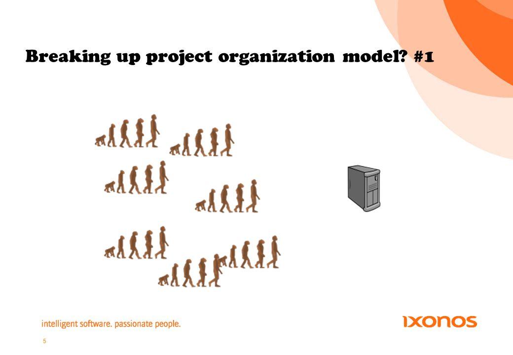 5 Breaking up project organization model #1