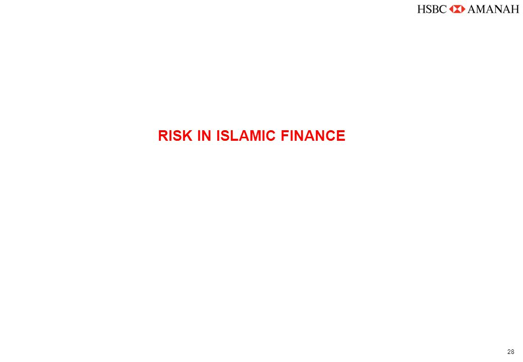 28 RISK IN ISLAMIC FINANCE