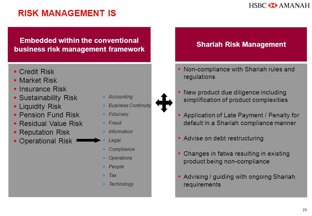 29  Credit Risk  Market Risk  Insurance Risk  Sustainability Risk  Liquidity Risk  Pension Fund Risk  Residual Value Risk  Reputation Risk  O