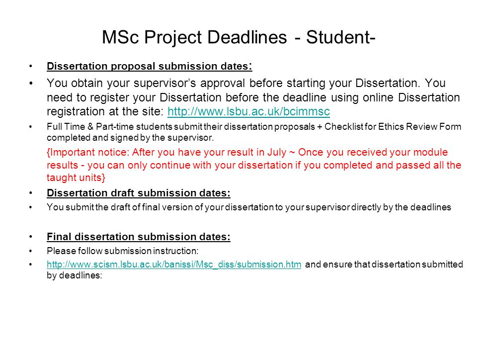 Dissertation Proposal Service Contents