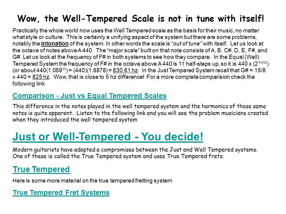 Wow, the Well-Tempered Scale is not in tune with itself.