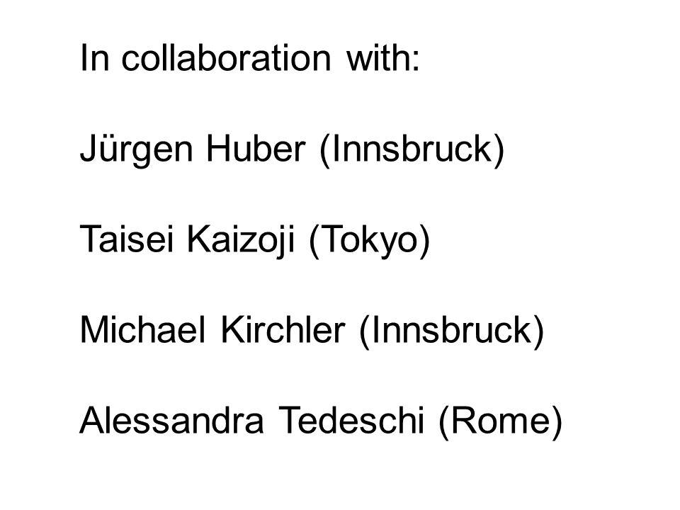 In collaboration with: Jürgen Huber (Innsbruck) Taisei Kaizoji (Tokyo) Michael Kirchler (Innsbruck) Alessandra Tedeschi (Rome)