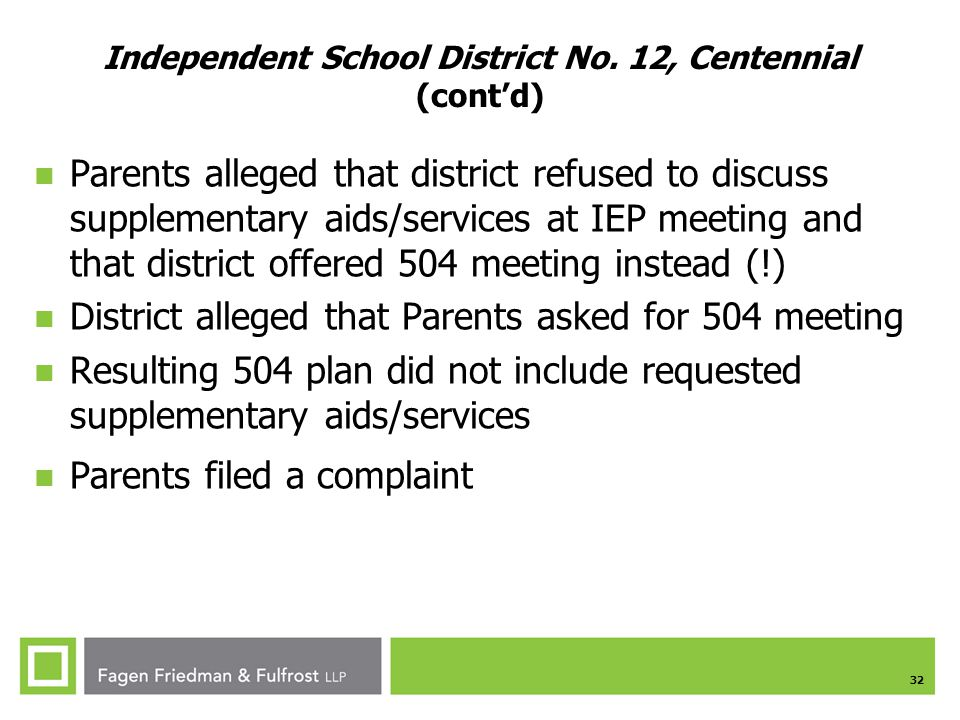 32 Independent School District No.