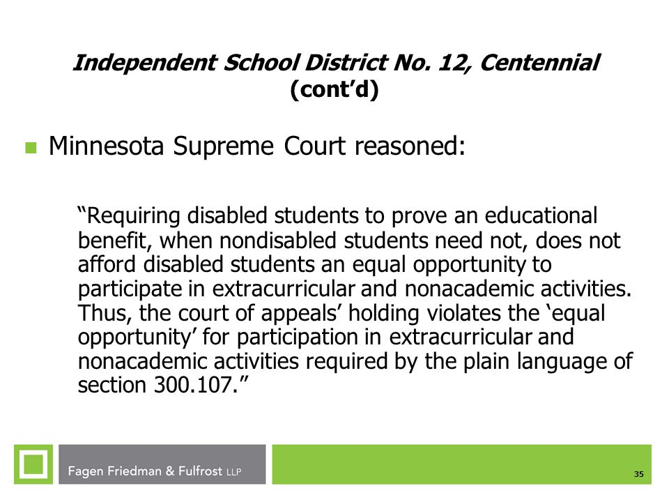 35 Independent School District No.