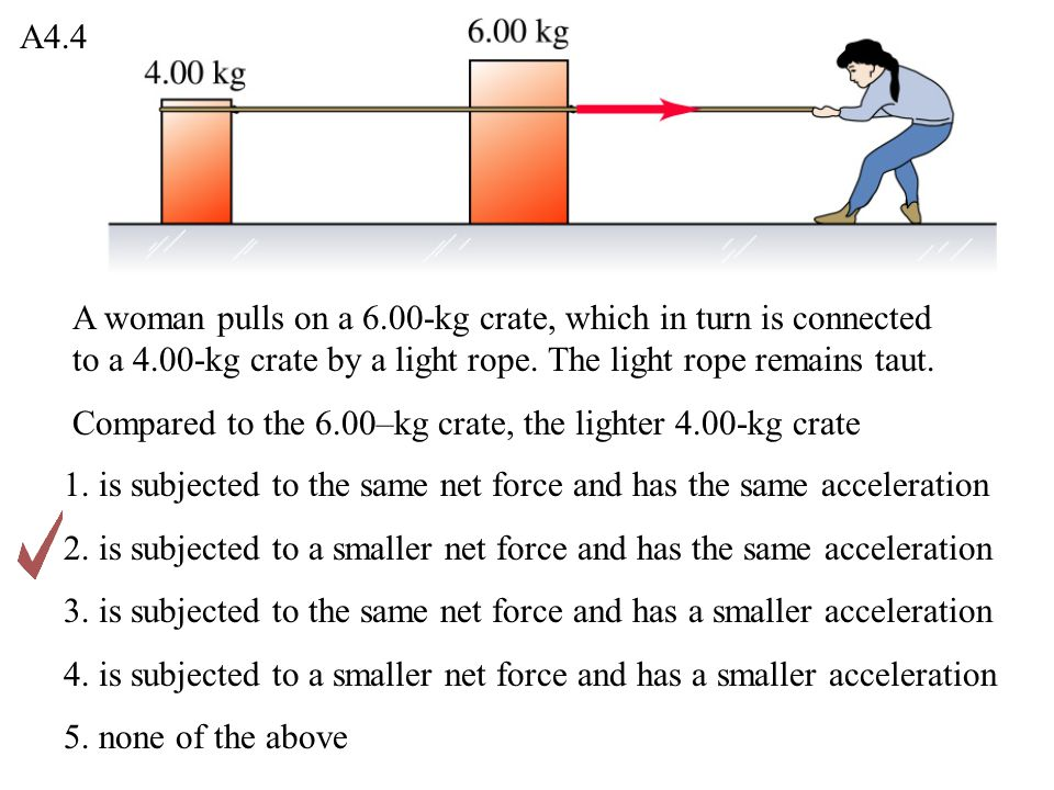 You are pushing a 1.00-kg food tray through the cafeteria line with a constant 9.0-N force.