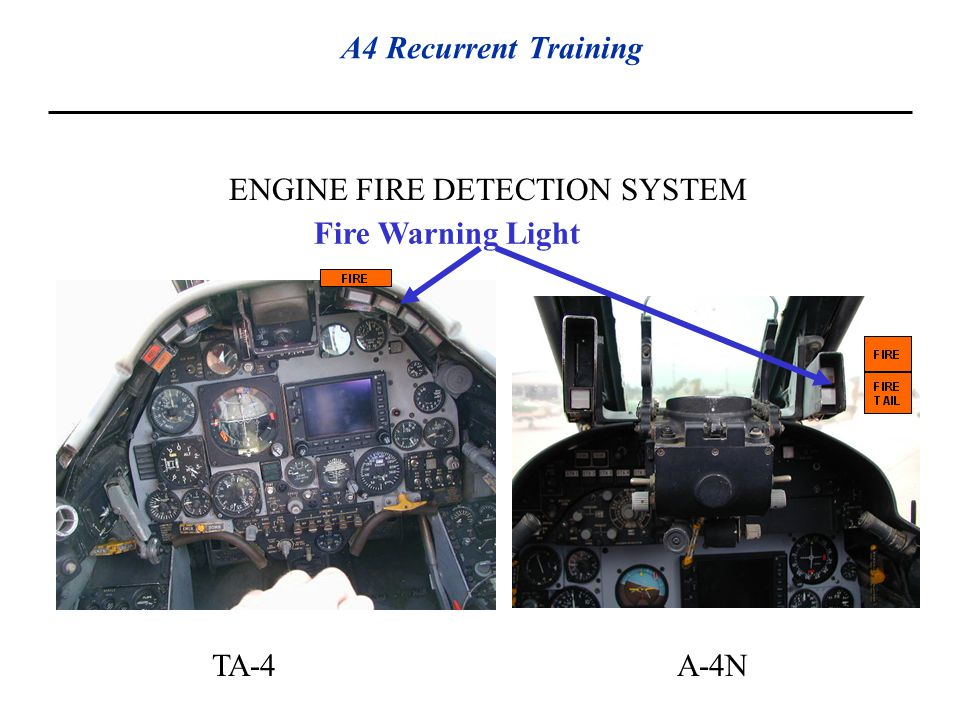 ENGINE FIRE DETECTION SYSTEM Fire Warning Light TA-4A-4N