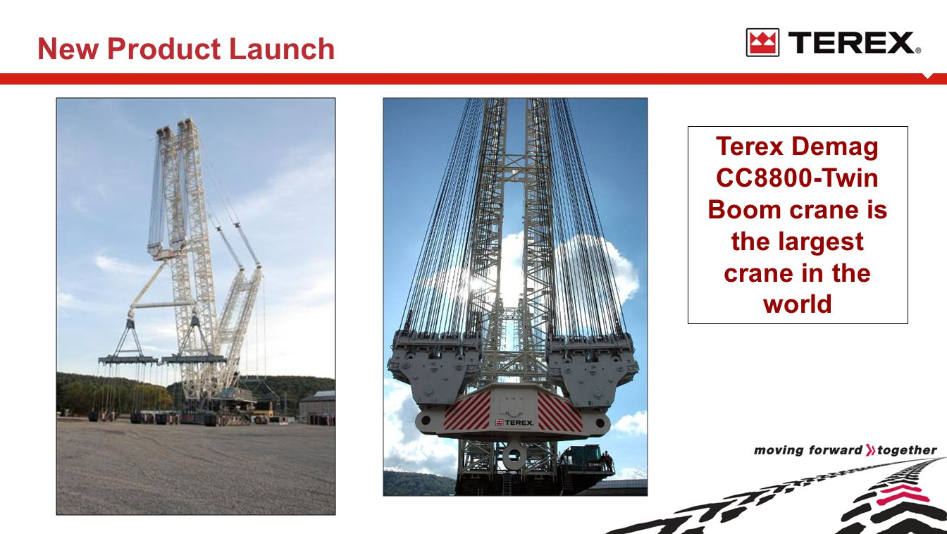 New Product Launch Terex Demag CC8800-Twin Boom crane is the largest crane in the world