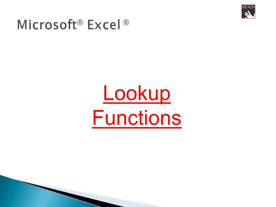 Lookup Functions