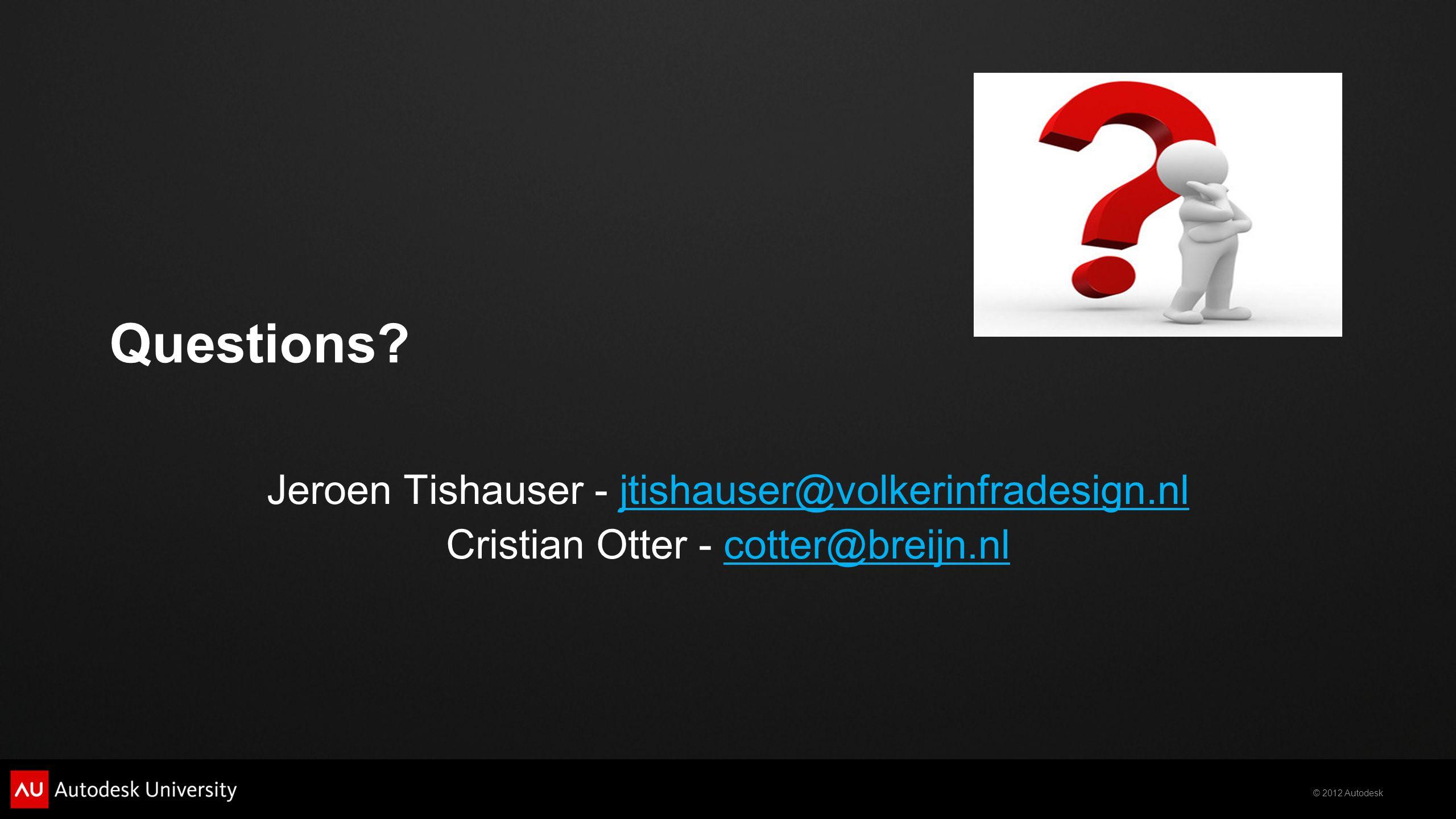 © 2012 Autodesk Questions.