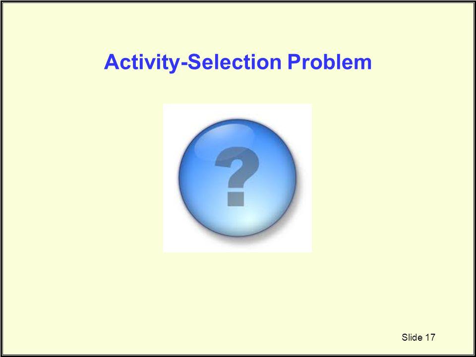 Activity-Selection Problem Slide 17