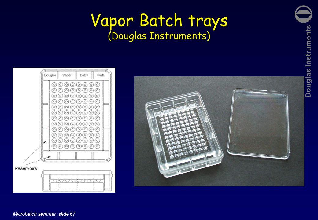 Douglas Instruments Microbatch seminar- slide 67 Vapor Batch trays (Douglas Instruments)