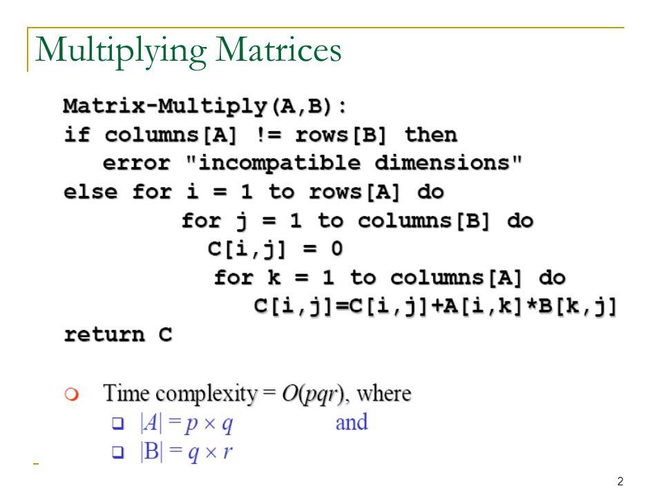 23 Step 3: Computing the Optimal Costs