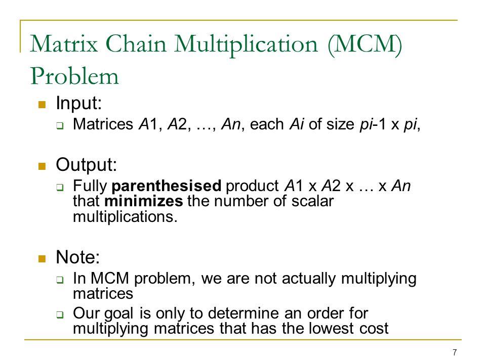 18 Step 3: Computing the Optimal Costs