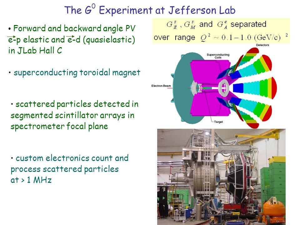 Forward and backward angle PV e-p elastic and e-d (quasielastic) in JLab Hall C superconducting toroidal magnet scattered particles detected in segmen