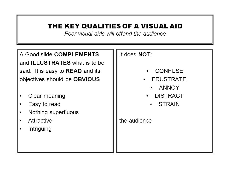 GUIDE TO THE PREPARATION OF VISUAL AIDS FOR CONFERENCE PRESENTATIONS Produced by: IOM Communications Ltd and The Institute of Materials