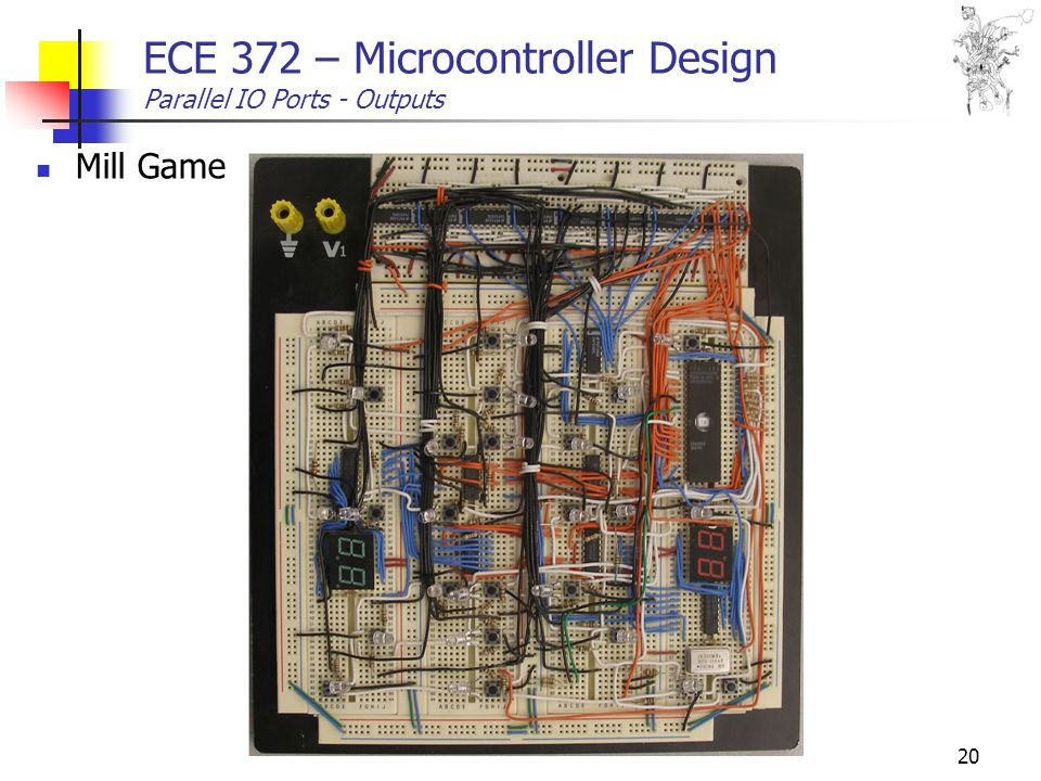 20 ECE 372 – Microcontroller Design Parallel IO Ports - Outputs Mill Game