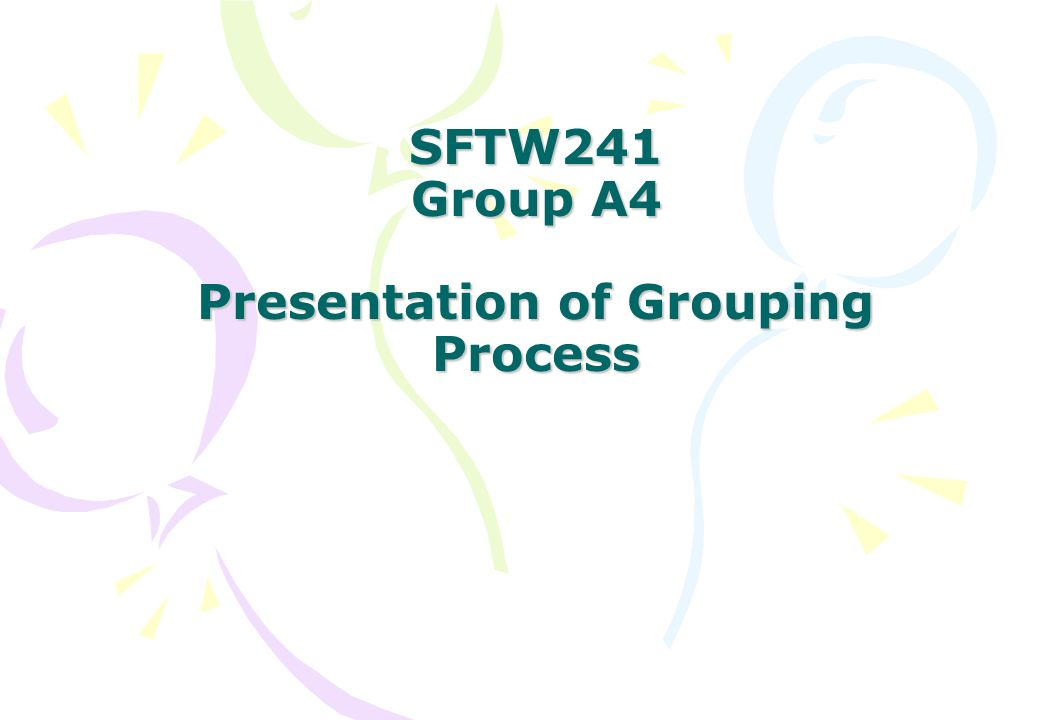 Idea of the Grouping Process (I) Create the student records.
