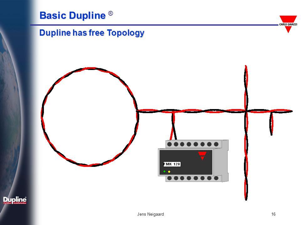 Basic Dupline Basic Dupline ® Jens Neigaard16 Dupline has free Topology