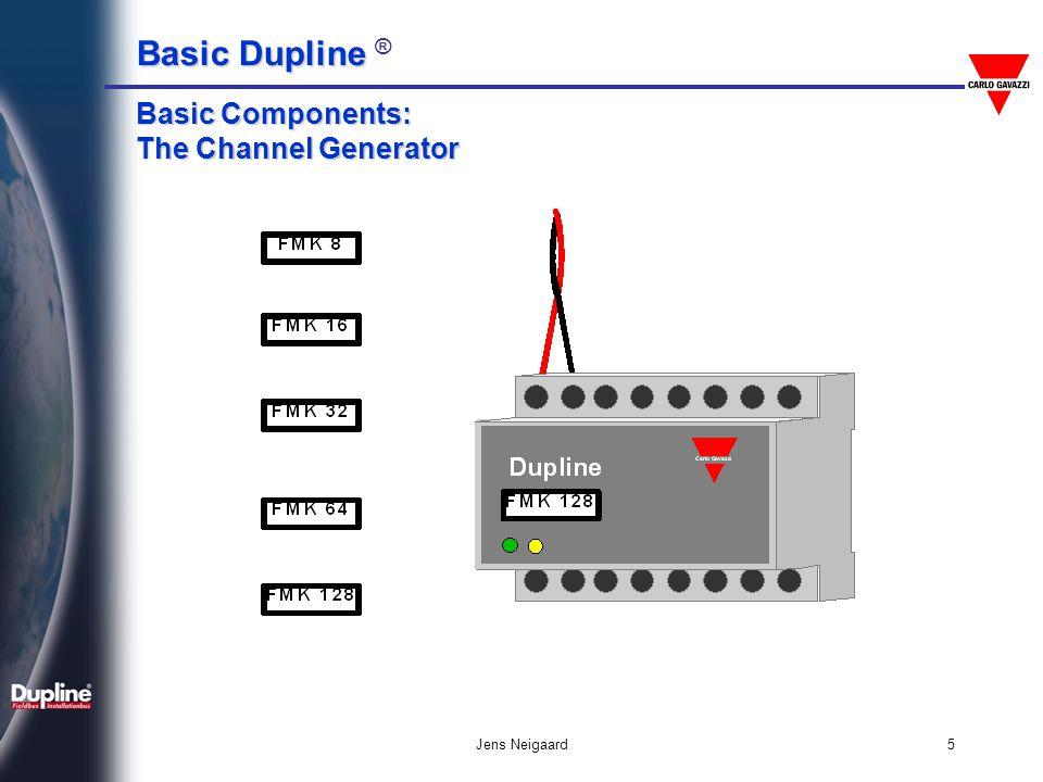 Basic Dupline Basic Dupline ® Jens Neigaard5 Basic Components: The Channel Generator