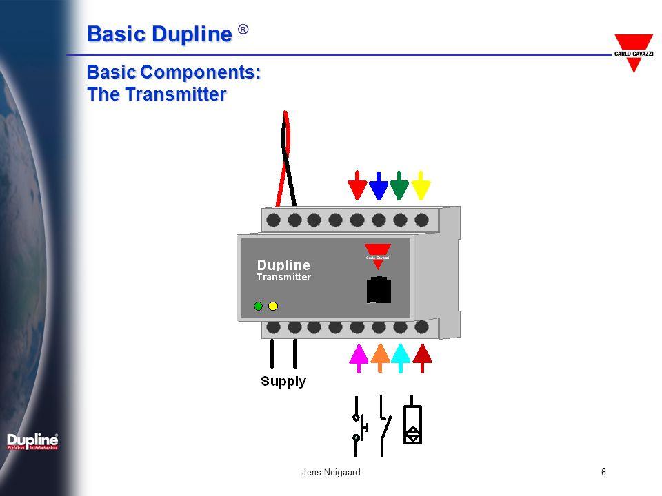 Basic Dupline Basic Dupline ® Jens Neigaard6 Basic Components: The Transmitter