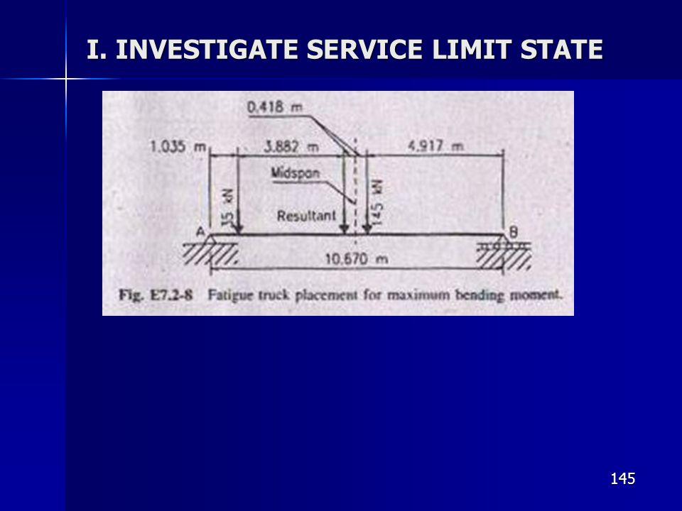 145 I. INVESTIGATE SERVICE LIMIT STATE