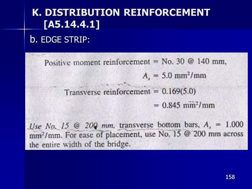 158 K. DISTRIBUTION REINFORCEMENT [A5.14.4.1] b. EDGE STRIP: