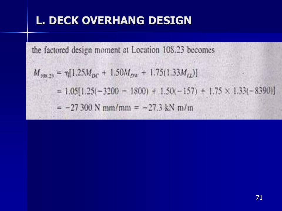 71 L. DECK OVERHANG DESIGN