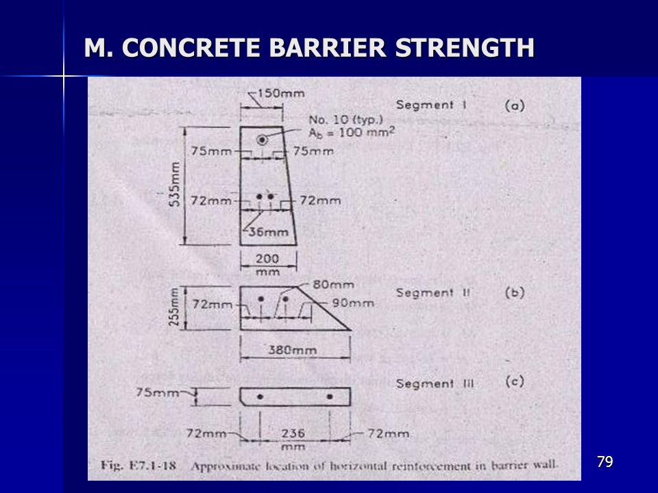79 M. CONCRETE BARRIER STRENGTH