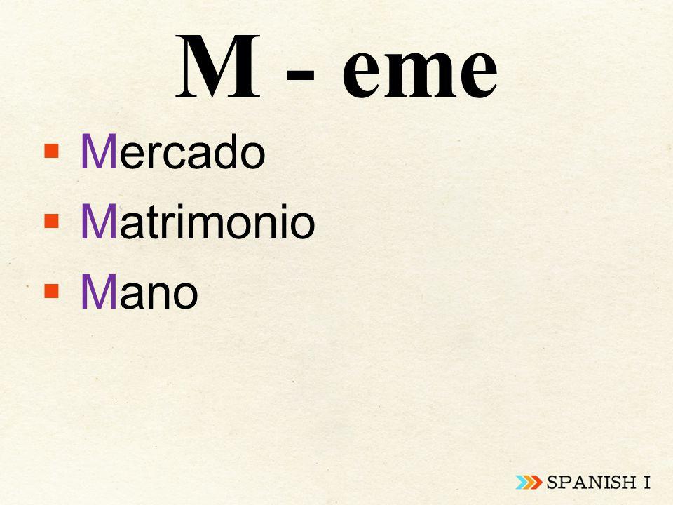 M - eme  Mercado  Matrimonio  Mano