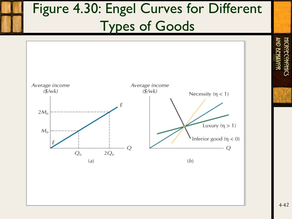 4-42 Figure 4.30: Engel Curves for Different Types of Goods