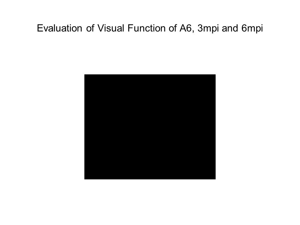 Evaluation of Visual Function of A6, 3mpi and 6mpi