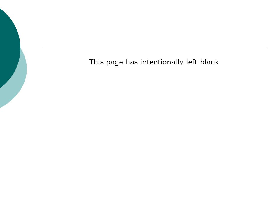 This page has intentionally left blank