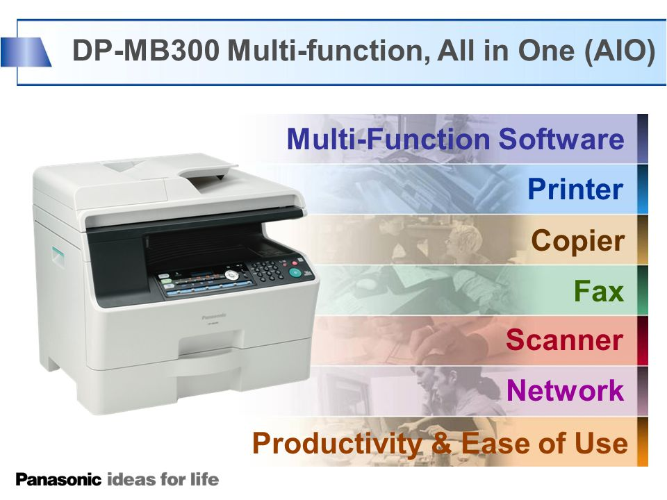 Multi-Function Software Printer Copier Scanner Fax Network DP-MB300 Multi-function, All in One (AIO) Productivity & Ease of Use