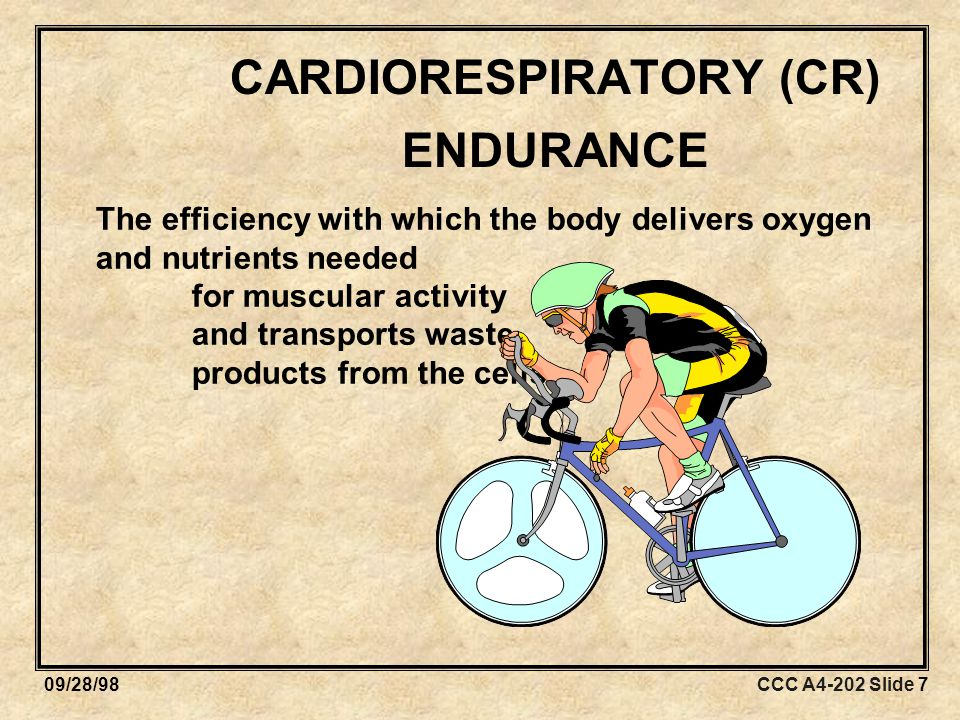 CCC A4-202 Slide 1809/28/98 OVERLOAD Exercise session must exceed normal demands placed on the body in order to bring about training effect.
