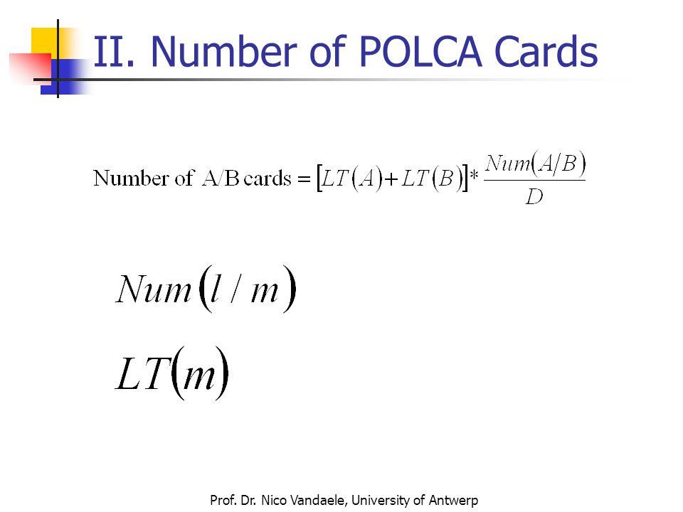 Prof. Dr. Nico Vandaele, University of Antwerp II. Number of POLCA Cards