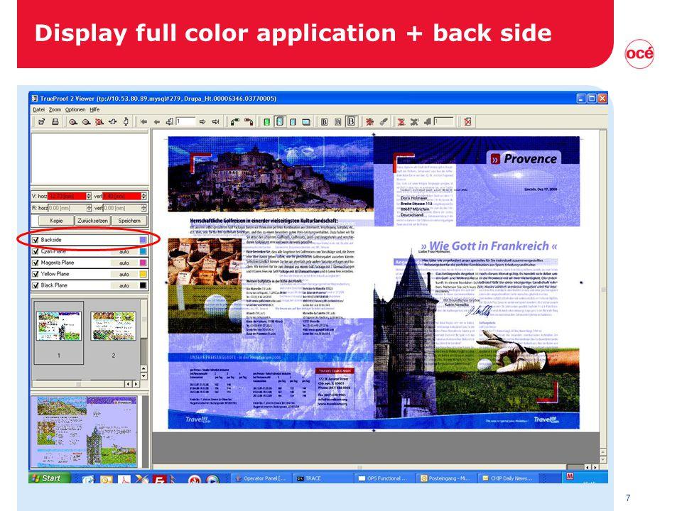 7 Display full color application + back side