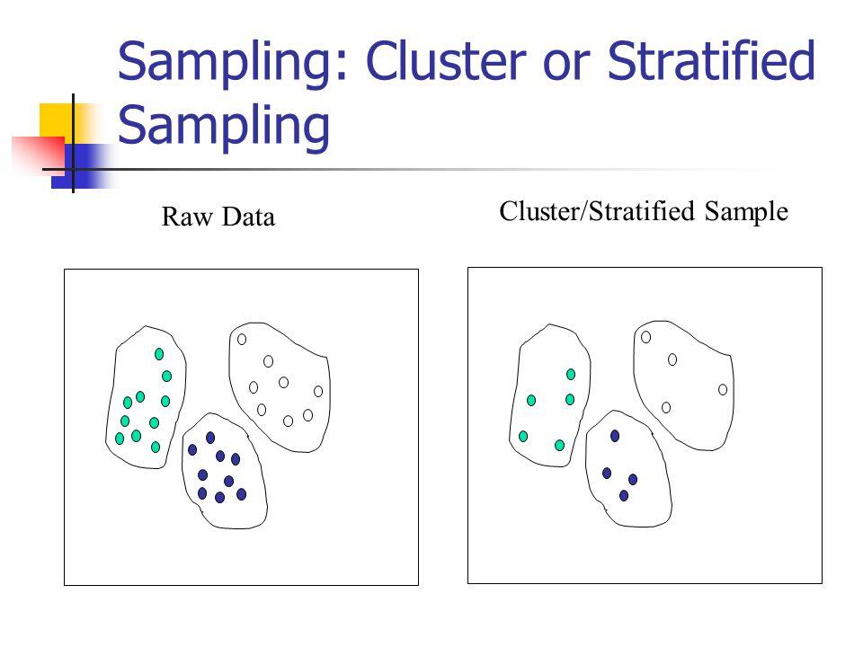 Sampling: Cluster or Stratified Sampling Raw Data Cluster/Stratified Sample