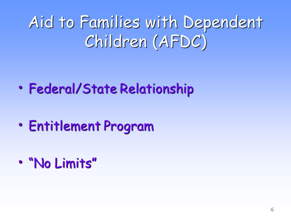 35 Work Requirement Exemptions − Under age 16 − Age 16, 17, or 18 and attending school full time − Age 16 or 17 with a high school diploma (or equivalent) and enrolled/planning to enroll in postsecondary educational − 60 years of age or older − Disability − Nonparent relative caring for a dependent/ward of the court or child at risk of foster care placement − Caring for a disabled family member − Parents with very young children − Pregnancy that impairs ability to be regularly employed − Full-time VISTA volunteer
