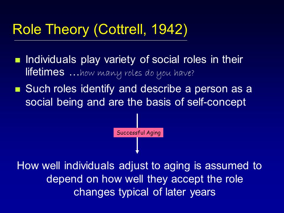 Continuity Theory (Atchley)… Intuitive appeal… Problems with Theory???.