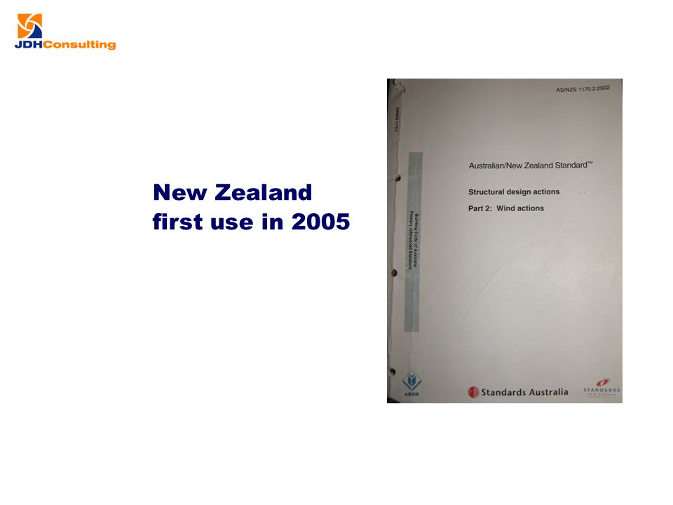 New Zealand first use in 2005