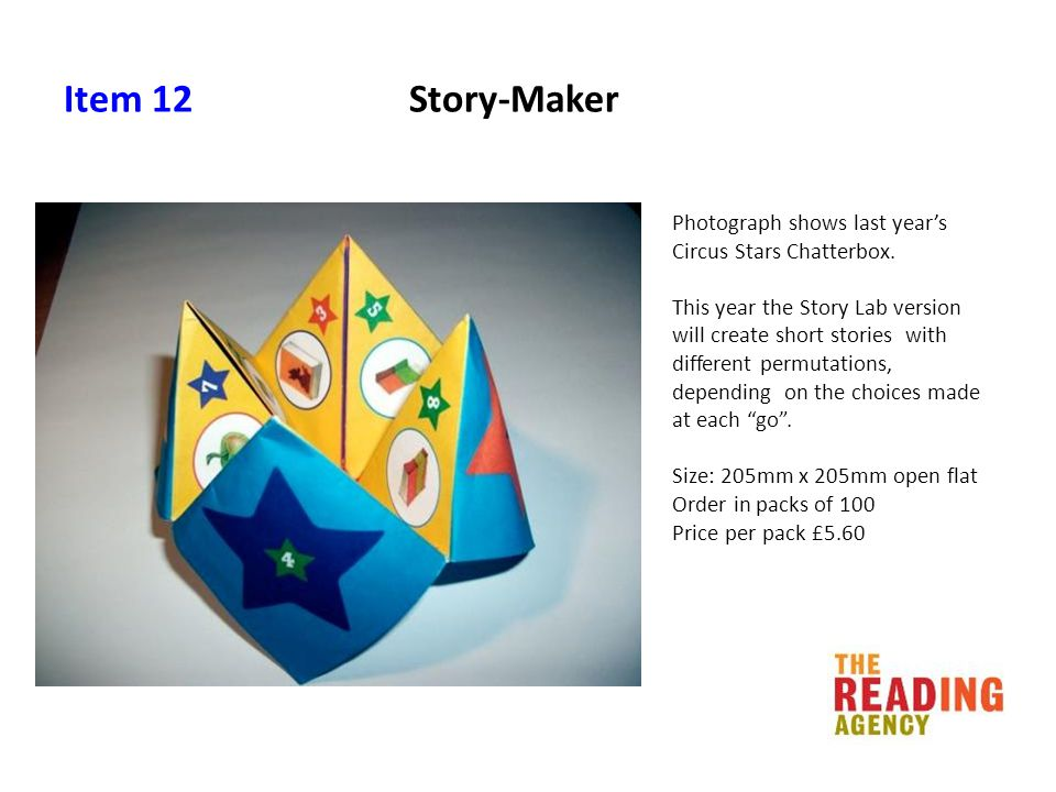 Item 12 Story-Maker Photograph shows last year's Circus Stars Chatterbox.