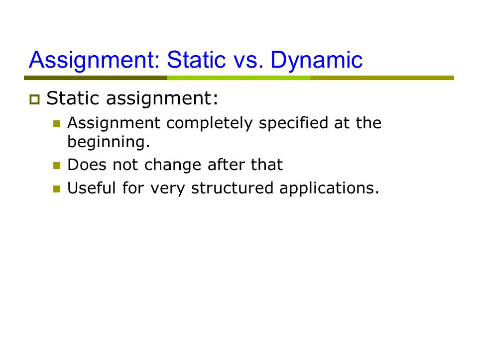 Assignment: Static vs.