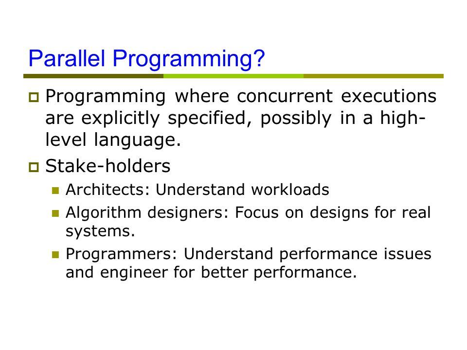 Parallel Programming.