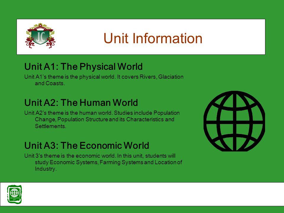 Unit Information Unit A4: The Natural World Unit A4's theme is 'The Natural World'.