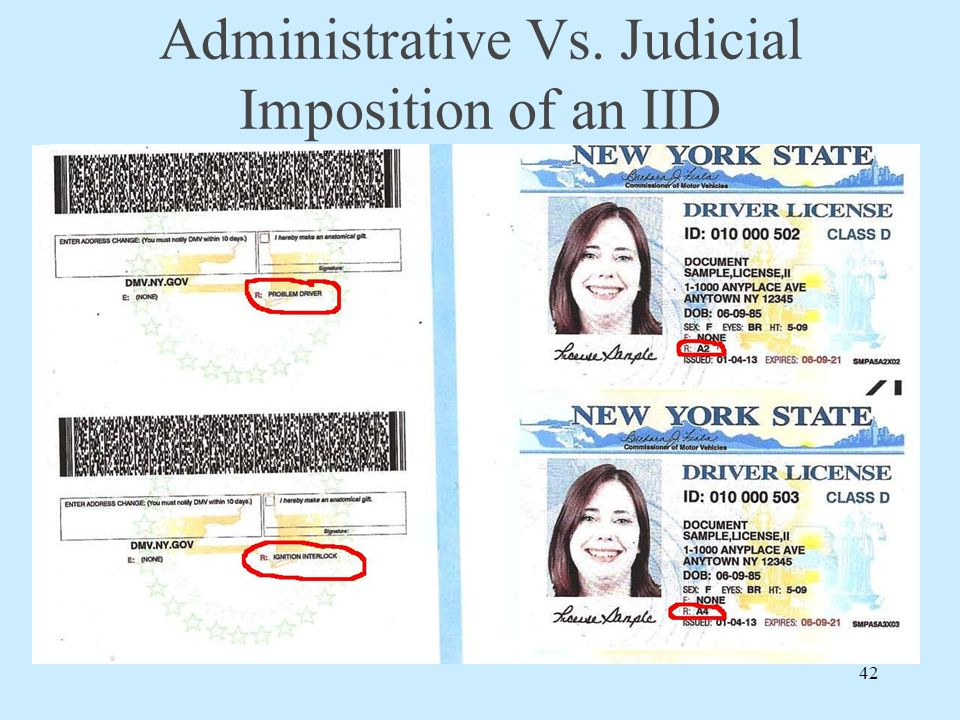 Administrative Vs. Judicial Imposition of an IID 42