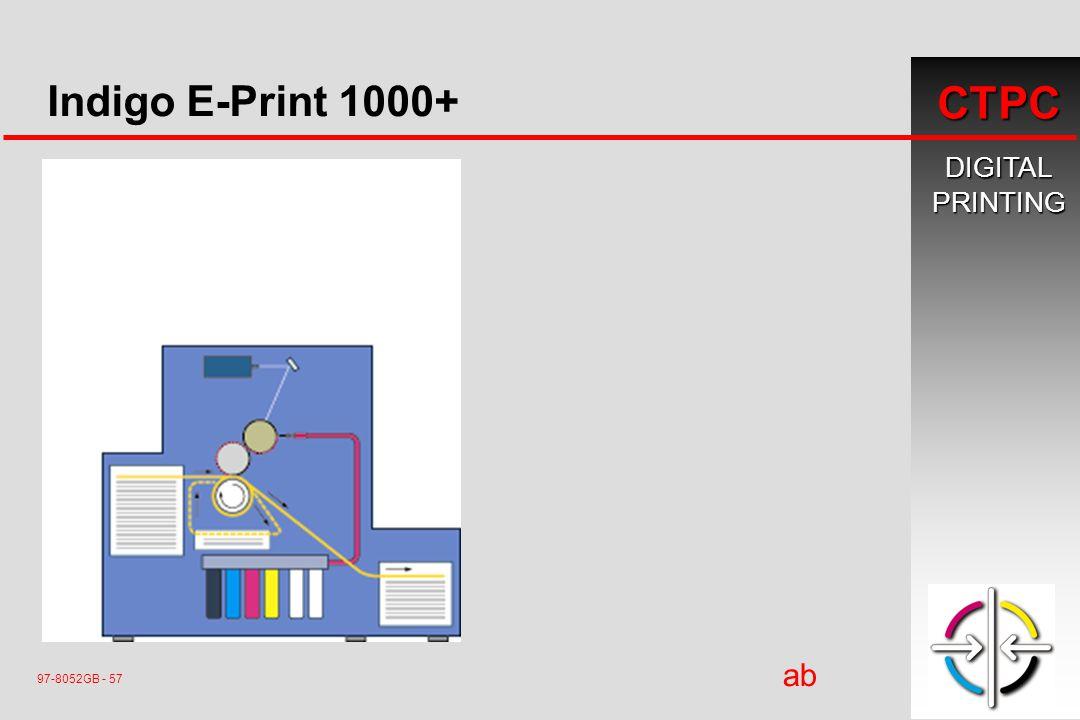 DIGITALPRINTING CTPC 97-8052GB - 57 ab ç Indigo E-Print 1000+