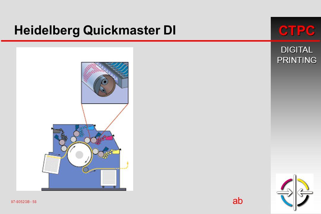 DIGITALPRINTING CTPC 97-8052GB - 58 ab ç Heidelberg Quickmaster DI