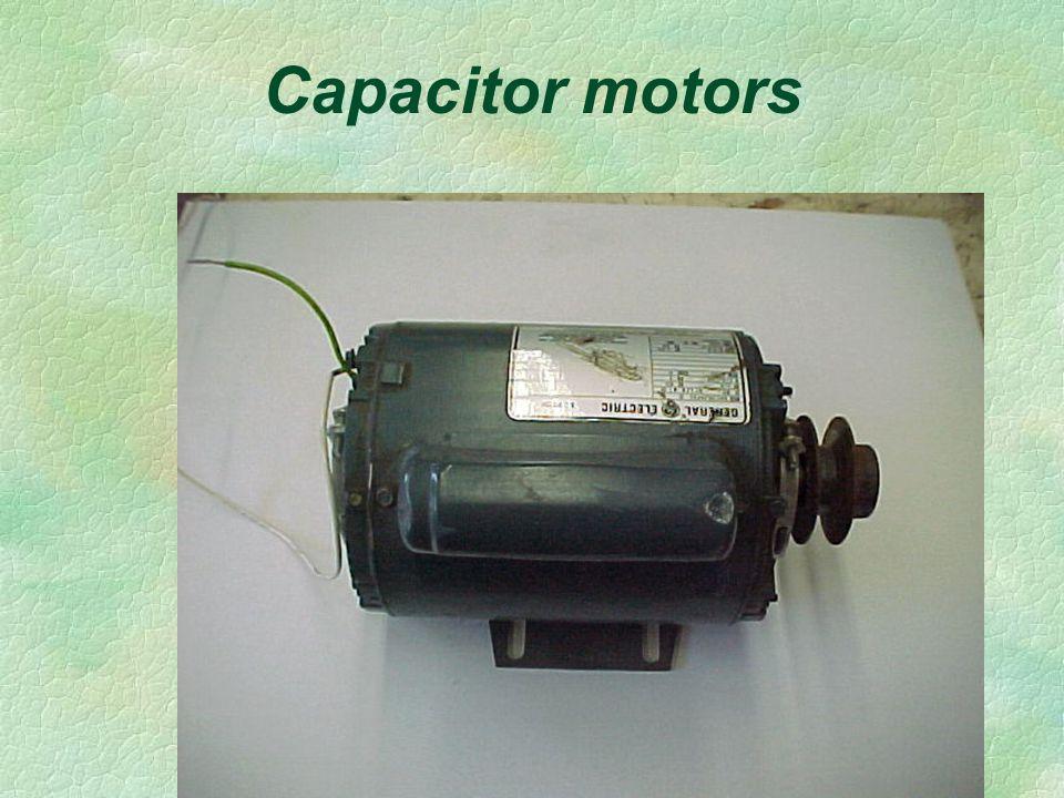 Capacitor motors